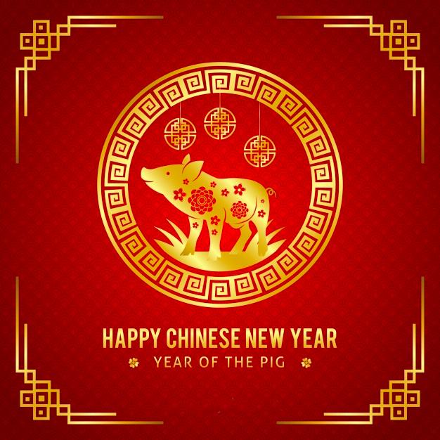 happy chinese year pig